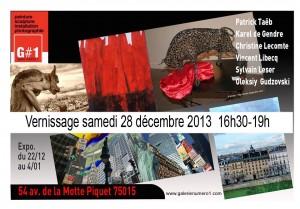 Flyer 1ère expo galerienumero1.com