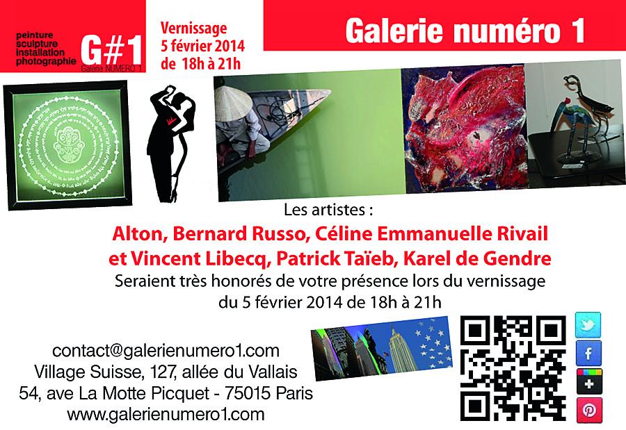 Vernissage 5 février à la Galerie Numéro 1