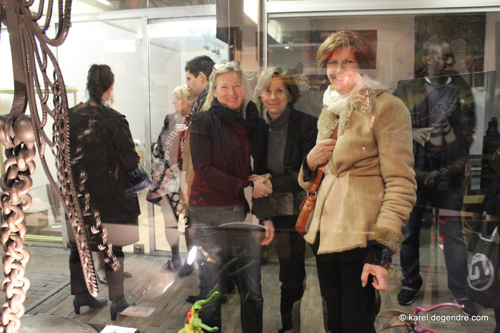 Photos du vernissage de l'exposition Jomad, Dunet et de Giry