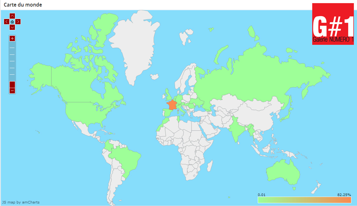 Avec Galerie Numéro 1 visible dans le monde entier !