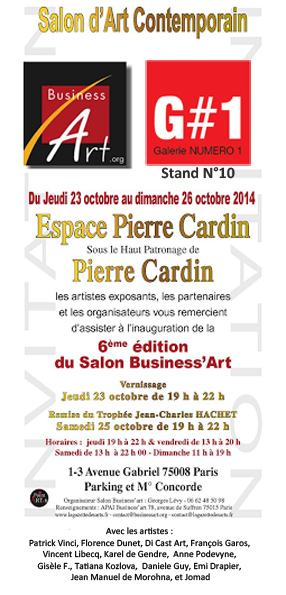 Invitation vernissage Salon Business Art 2014