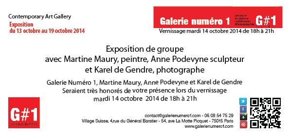 Exposition Martine Maury, peintre et Anne Podevyne, sculpteur