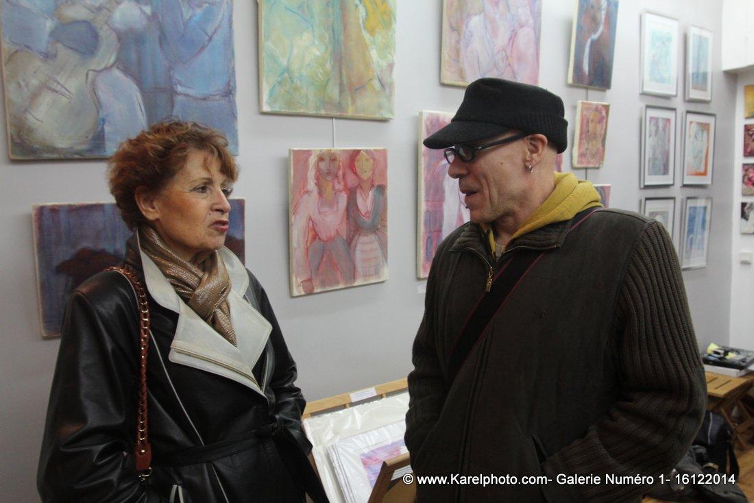 """L'autre vernissage """"Ambiance Vénitienne"""" à la Galerie Numéro 1 le 16 décembre 2014"""