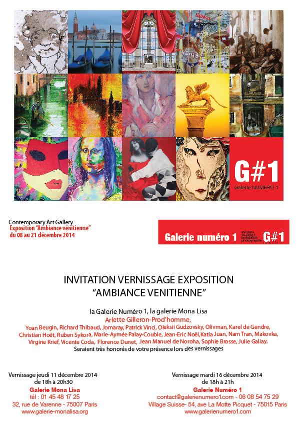 Venise s'installe à la Galerie Mona Lisa avec G#1