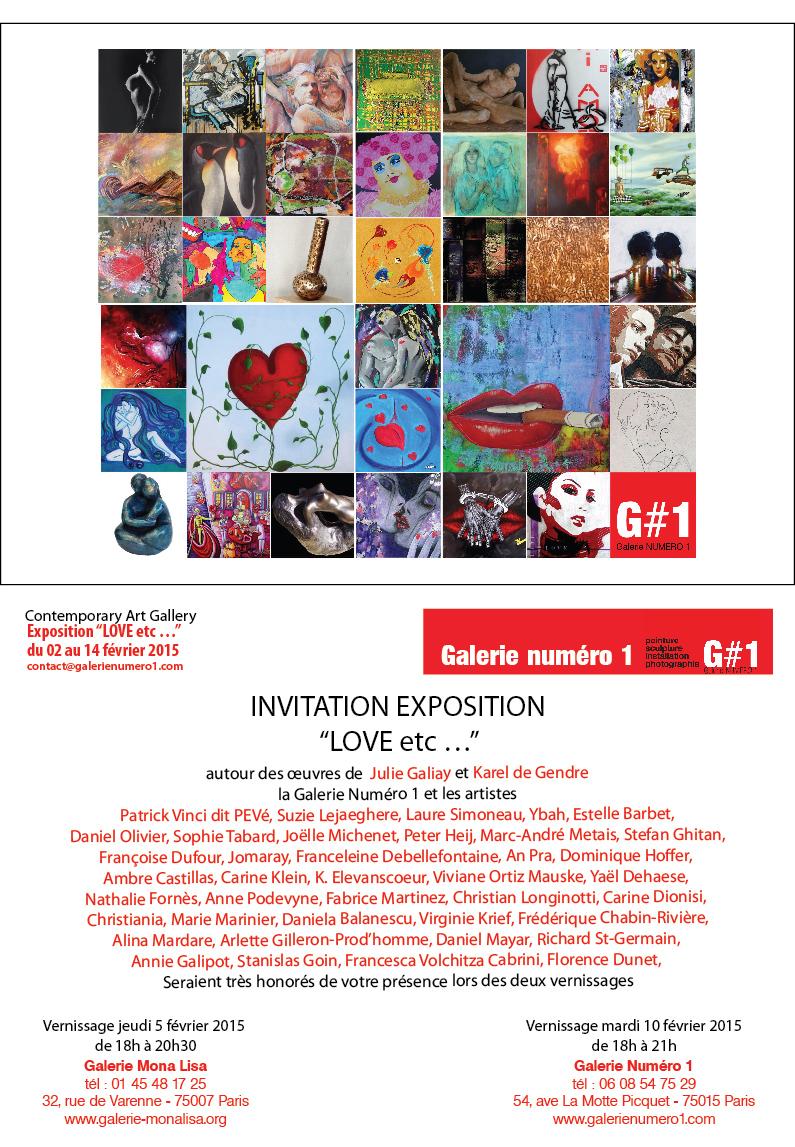 Saint valentin à la galerie Mona Lisa avec Galerie Numéro 1