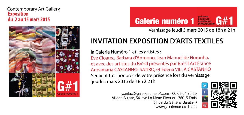 """""""Arts Textiles"""" l'exposition du 2 au 15 mars"""