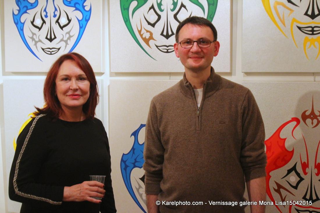 Photo du vernissage chez galerie Mona Lisa