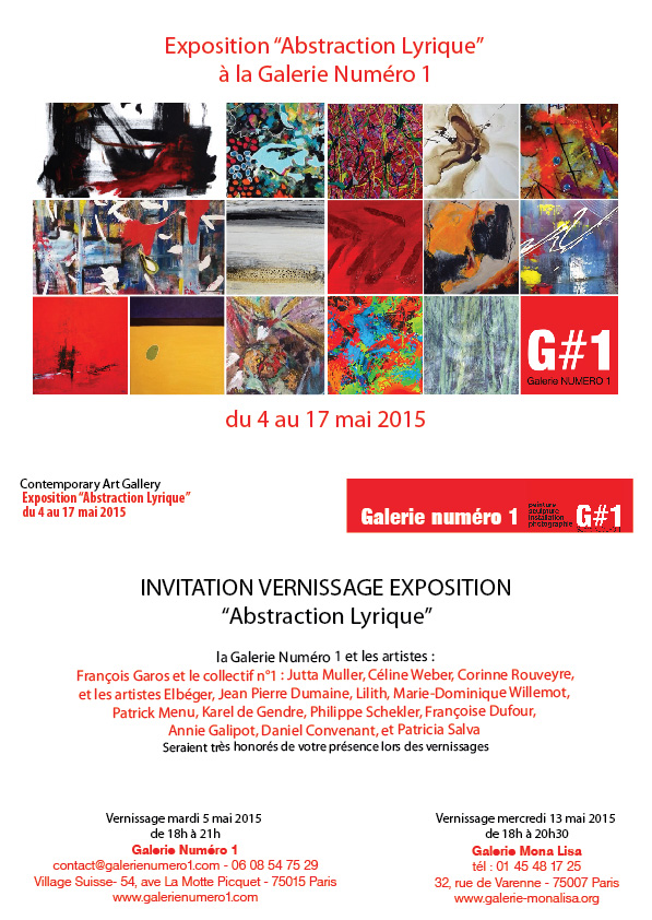 vernissage Abstraction Lyrique chez galerie Mona Lisa