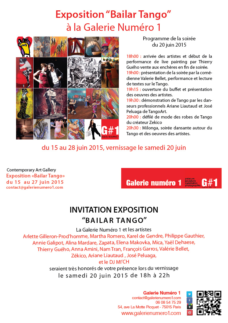 Expo BAILAR TANGO : danse  et Tango