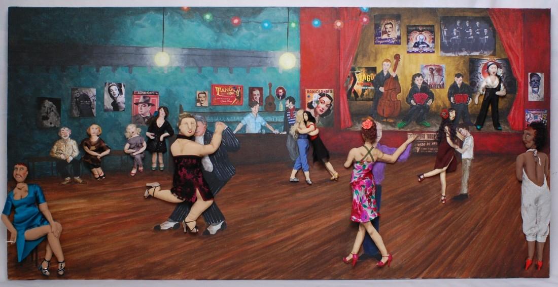 La peinture et le Tango s'exposent chez G#1