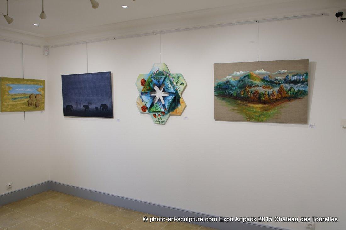 Les artistes Art Pack avec G#1 au Château des Tourelles