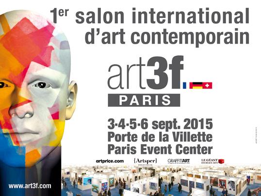 4 artistes G#1 exposent à art3f Paris du 3 au 6 septembre.