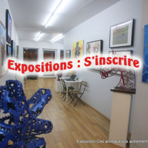 Expositions : S'inscrire