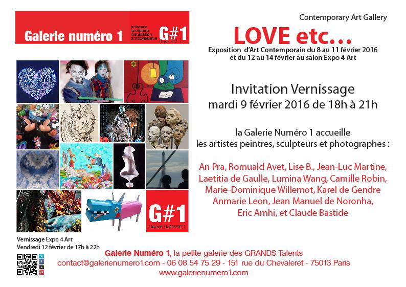 Jour J mardi 9 Vernissage Exposition LOVE etc…