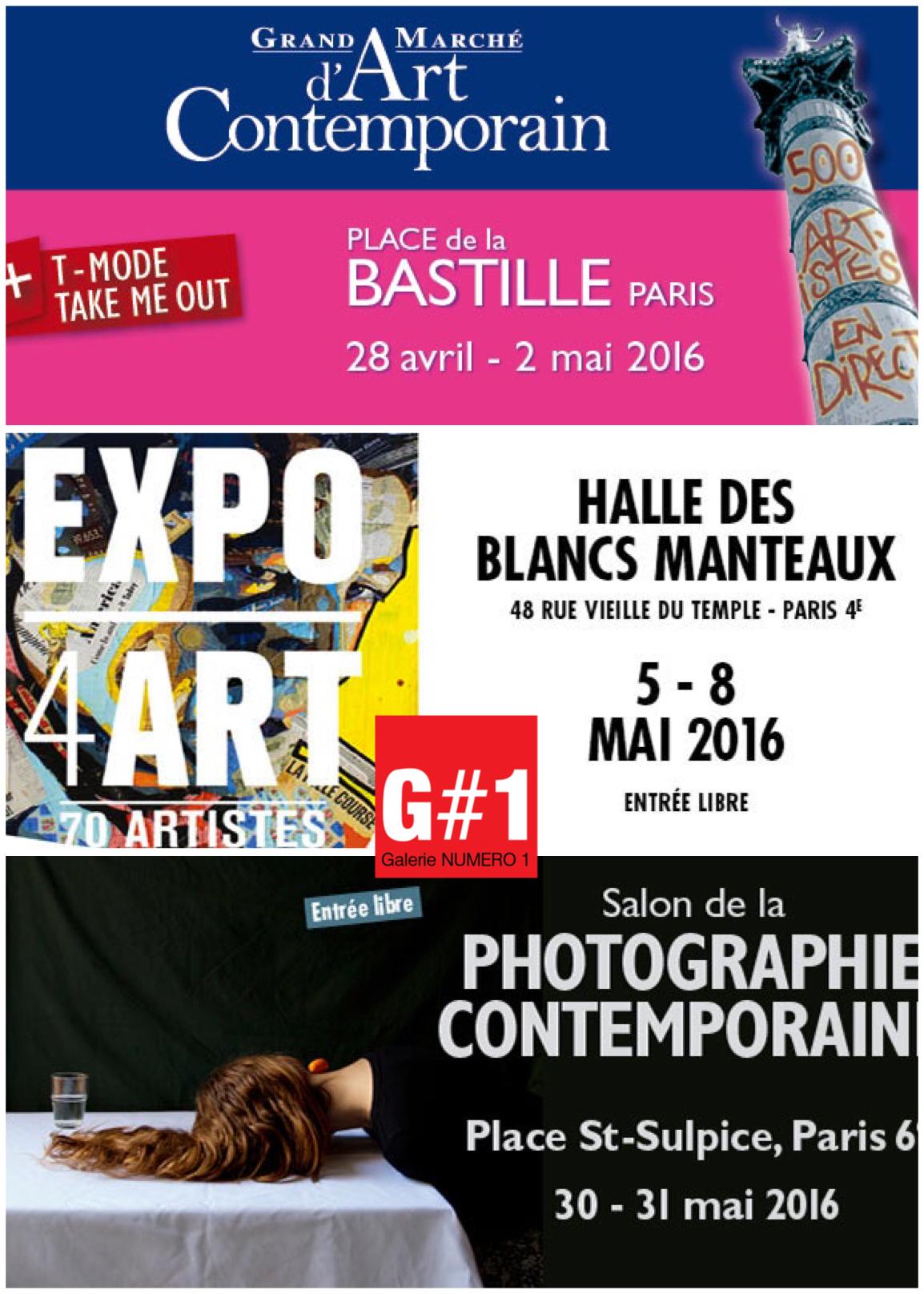 Appel à candidature GMAC Bastille printemps 2016 avec Galerie Numéro 1