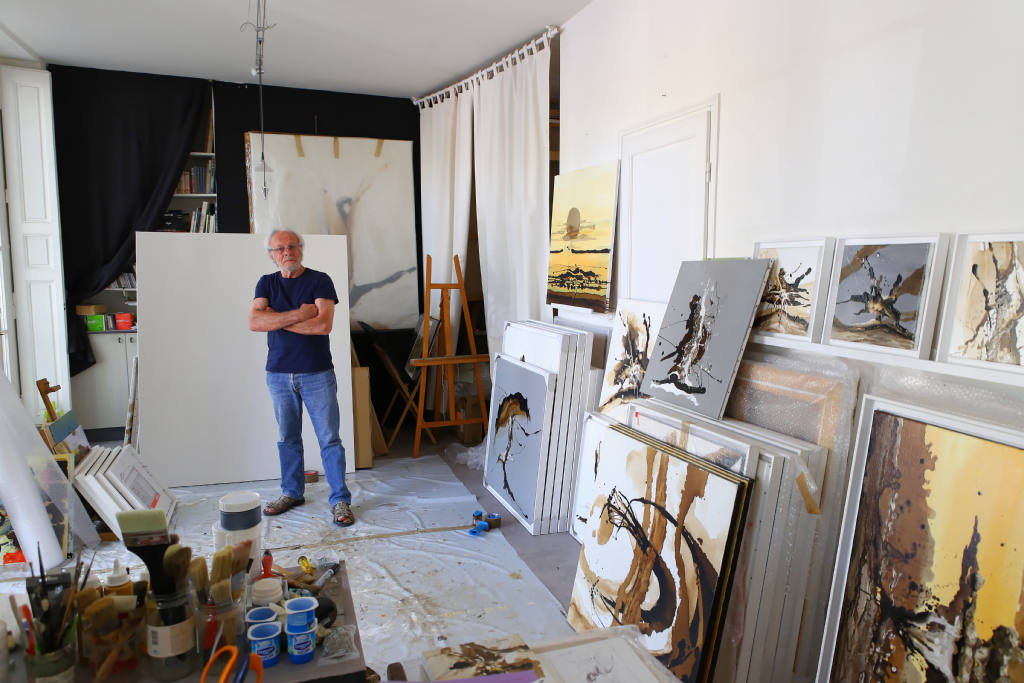 Visite de l'atelier de Daniel Convenant à Versailles.
