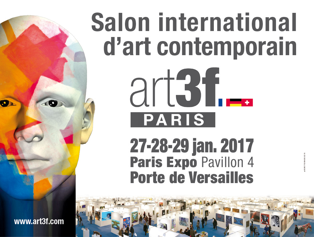 Invitation vernissage Salon Art3f PARIS 27-28-29 JANVIER