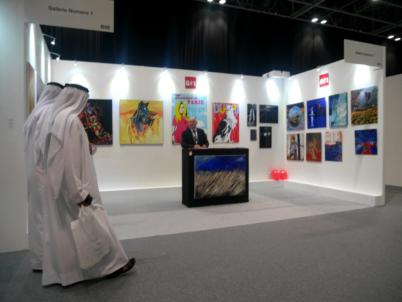 Gn1 expose au World Art Dubaï